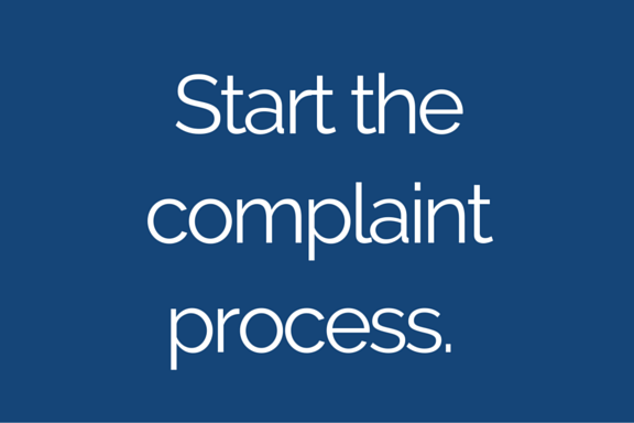 Complaint process image button